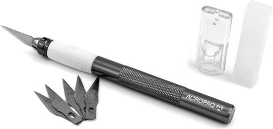 ACROPAQ AK001 - ZWART Aluminium Hobbymes met softgrip