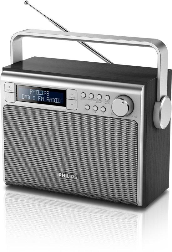 Philips AE5020 - Draagbare DAB+ radio - Zwart/Zilver