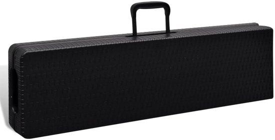 vidaXL Tuinbanken inklapbaar 2 st 180 cm HDPE zwart