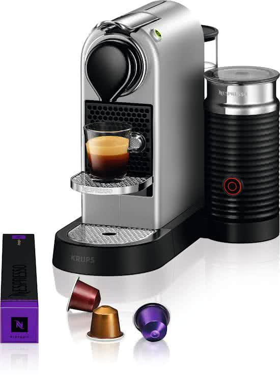 nespresso krups citiz milk xn760b silver. Black Bedroom Furniture Sets. Home Design Ideas