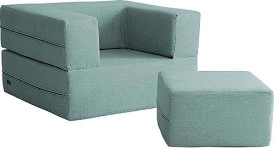 Xoft Living Luxe 3 in 1 Kinderstoel, bank voor kinderen, Junior Snapsit Single Mint (1 zits)