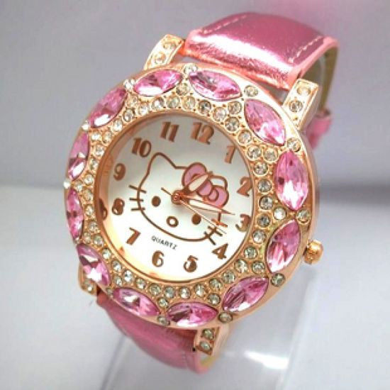Hello Kitty Horloge | Roze