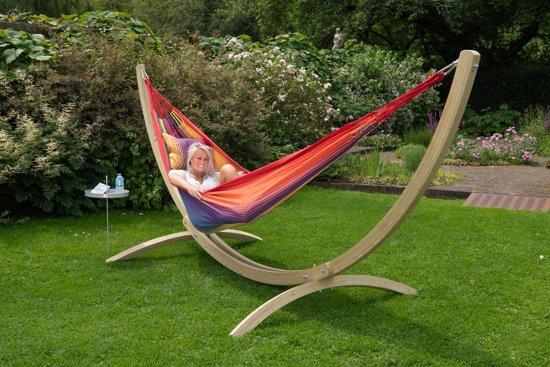 Hangmat met Standaard Familie 'Wood & Refresh' Rainbow