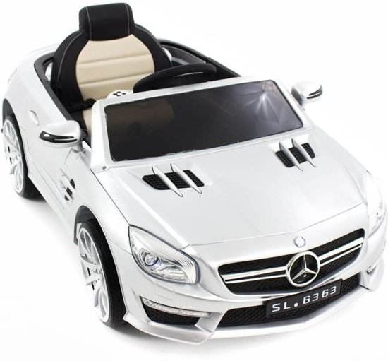 mercedes kinderauto amg sl63 zilver mercedes. Black Bedroom Furniture Sets. Home Design Ideas