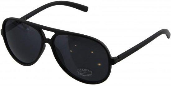 03748b06724f3f Hippe zwarte zonnebril met extra donkere glazen