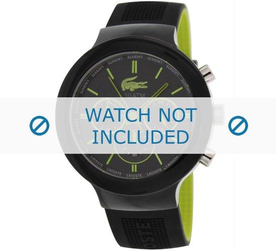 Horlogeband Lacoste 2010650 / LC-61-1-29-2347 Rubber Zwart 16mm