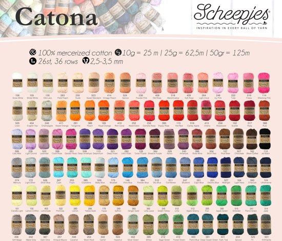 Assortiment 109 kleuren Scheepjeswol Catona 25 gram