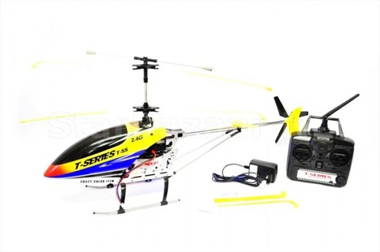 MJX T55 Thunderbird 2.4Ghz 3CH Helicopter & Camera Ready Geel
