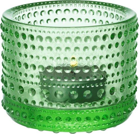 Iittala Kastehelmi - Waxinelichtjeshouder - Sfeerlicht - h 6.4 cm - Appelgroen