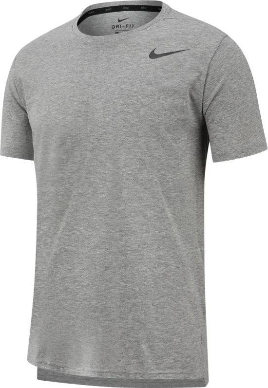 Nike Breath Top Ss Hyper Dry Sportshirt Heren - Grijs