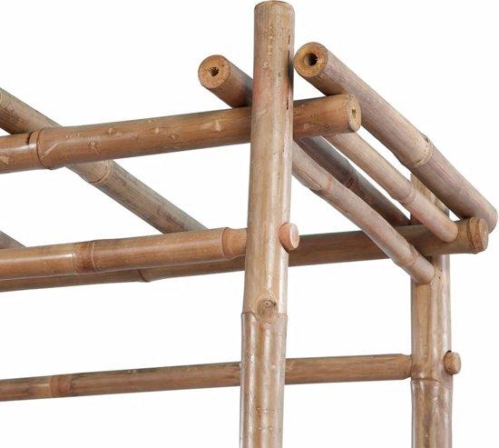 vidaXL Tuinbank met pergola 130 cm bamboe