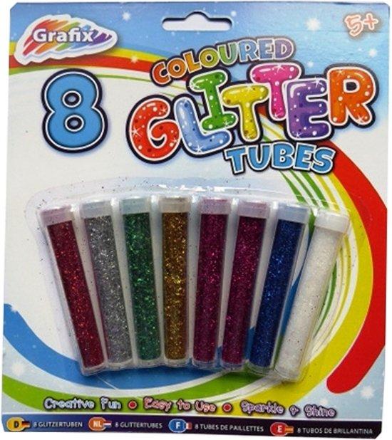 Knutsel Glitters 8 kleuren