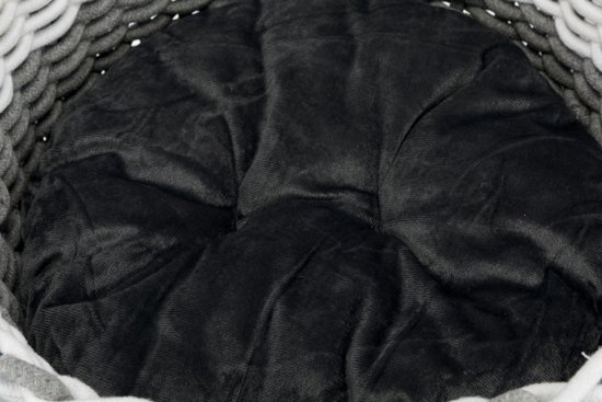 Trixie Kattenmand Nabou - Katoen Geweven - Grijs/Wit - 45 x 45 cm