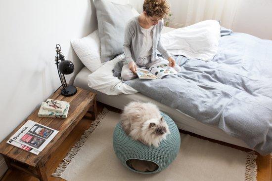 Curver Cozy Pet Home Kattenmand - Crème - Ø 55 cm