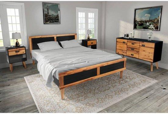 Slaapkamer Massief Hout : Bol.com vidaxl slaapkamer meubelset 140x200 cm massief acaciahout