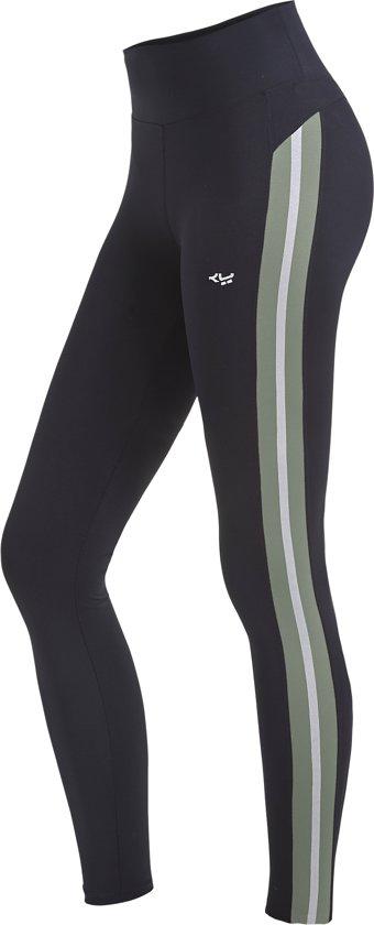 Röhnisch Shape Stripe Sportlegging Dames - Combat Green - Maat S