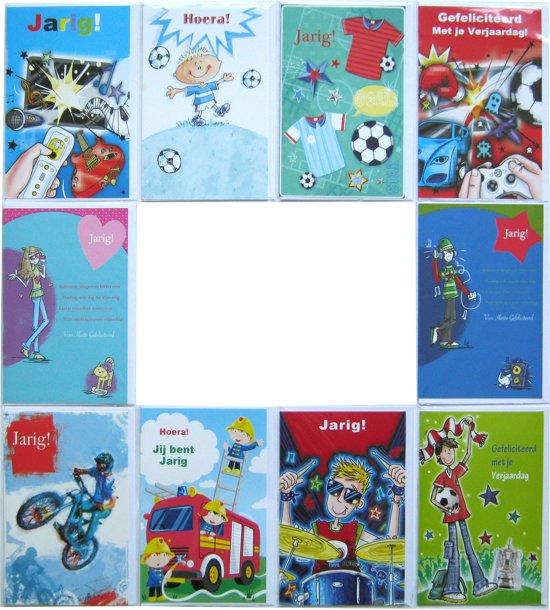 Verjaardagskaarten - Set van 10 - Jongens - Meisjes