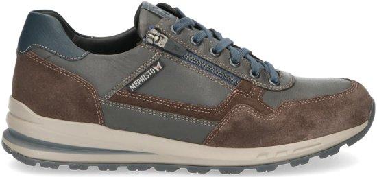 Sneakers 45 Voor Mephisto Bradley Maat Lederen Heren Donkergrijs wBRU4q