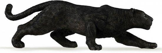 Plastic zwarte panter 14 cm