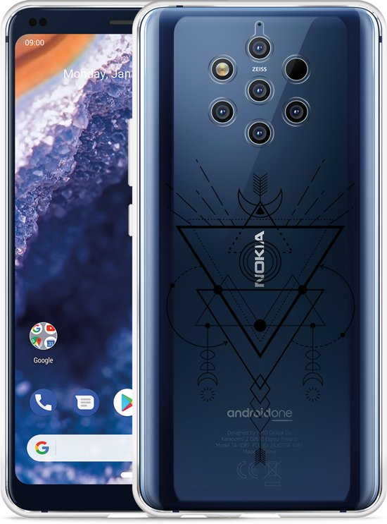 Nokia 9 PureView Hoesje Abstract Moon Black