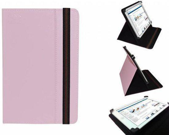 """""""Uniek Hoesje voor de Salora Tab7001 - Multi-stand Cover, roze , merk i12Cover"""""""