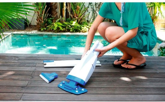 Bestway Zwembadstofzuiger Lay-z-spa Aquascan Deluxe Wit