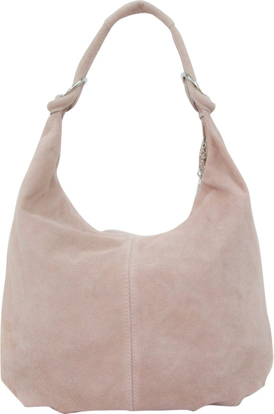 Italiaans Bag Pink Van Echt Handtas Hobo Schoudertas Suède Wl822 Rosé H29IED