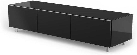 Glazen Tv Kast : Bol.com spectral just racks jrl1650s bg tv meubel in zwart glas