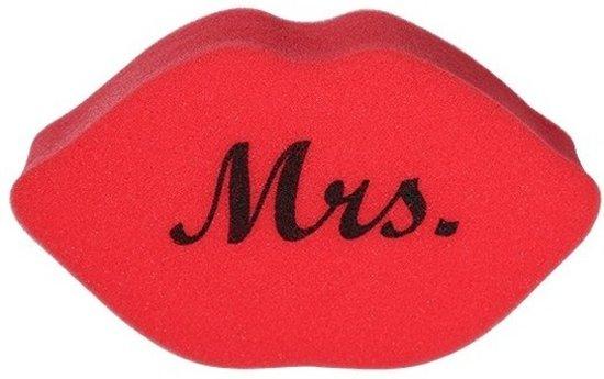 Valentijn - Rode bad spons lippen 20 cm