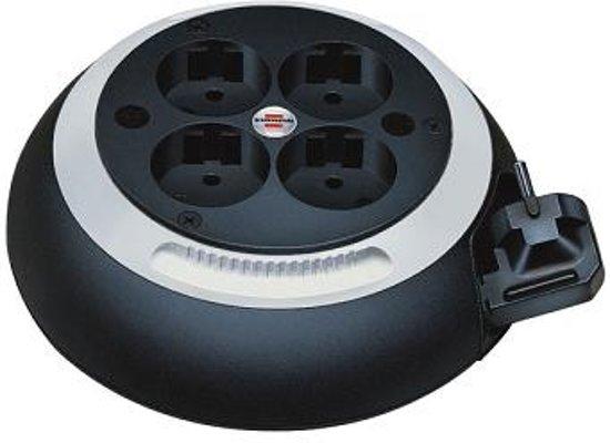 Brennenstuhl Comfort Line CL-S 4AC outlet(s) 3m Zwart, Wit Overspanningsbeveiliging