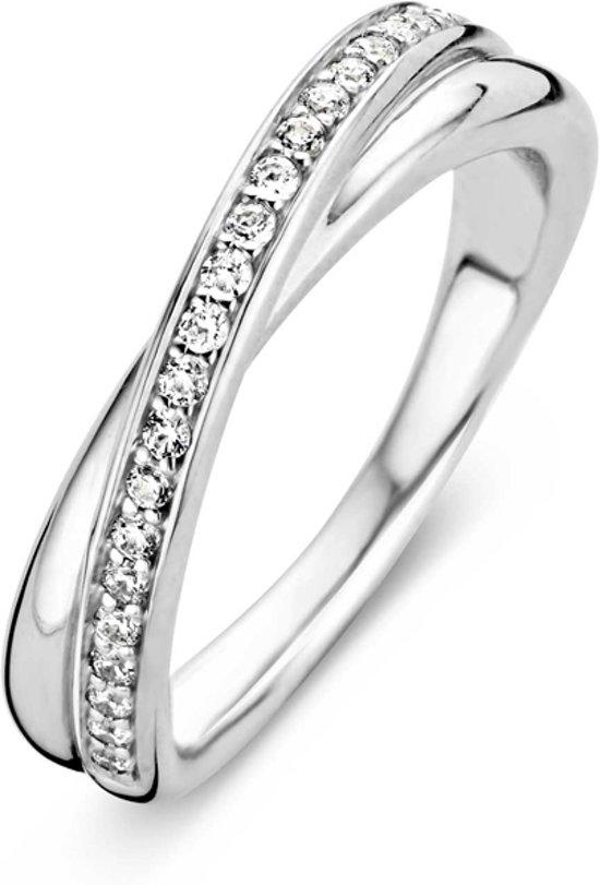 TI SENTO Milano Ring 1953ZI - Maat 50 (16 mm) - Gerhodineerd Sterling Zilver