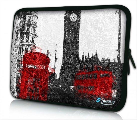 Laptophoes 13,3 artistiek Londen - Sleevy