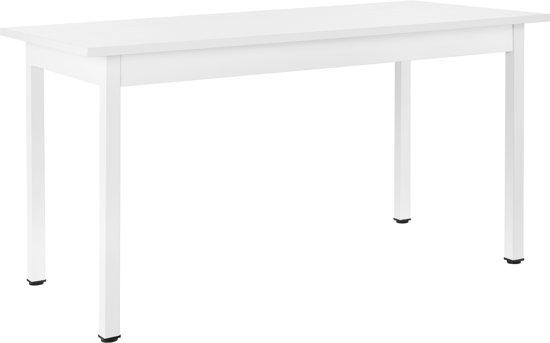 Eettafel Wit Design.Bol Com Design Eettafel Leverkusen Voor 6 Stoelen Wit