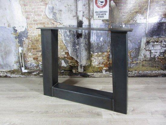 Bol handgemaakte industriele tafelpoten model trapeze zwaar