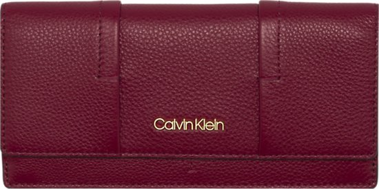 18db7766710 Calvin Klein - City Leather - trifold w/coins dames portemonnee - red rock