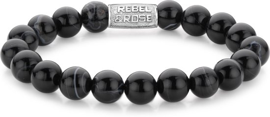 Rebel&Rose armband - Black Velvet - 10mm L (19cm)