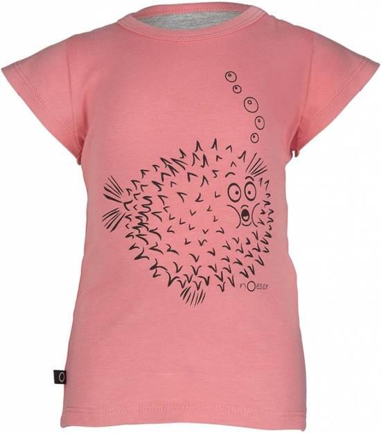Noeser t-shirt Ted Tee Frill koraal roze maat 62-68