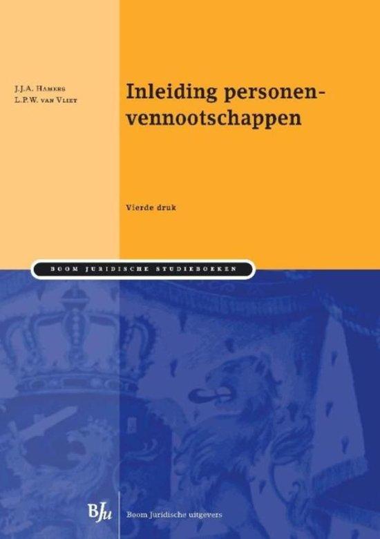 Boom Juridische studieboeken Inleiding personenvennootschappen