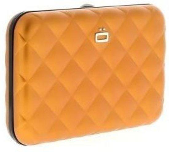 6abbdee58b4 Ogon Designs aluminium pas houder quilt editie met druksluiting - Kleur -  Oranje
