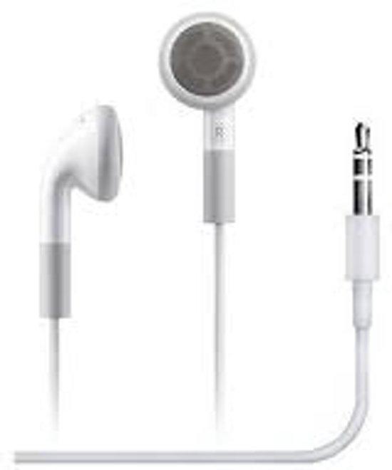 Witte oortjes 3,5 mm geschikt voor zowel Apple iPhone als Samsung - Headset - In-Ear - Oordopjes - Koptelefoon