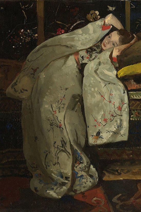 Meisje in Kimono – 80x120 – Glas Schilderij