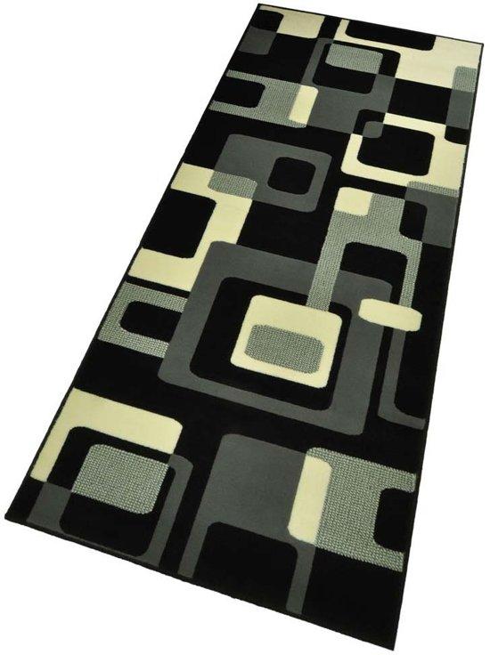 Moderne loper Retro - zwart 80x300 cm