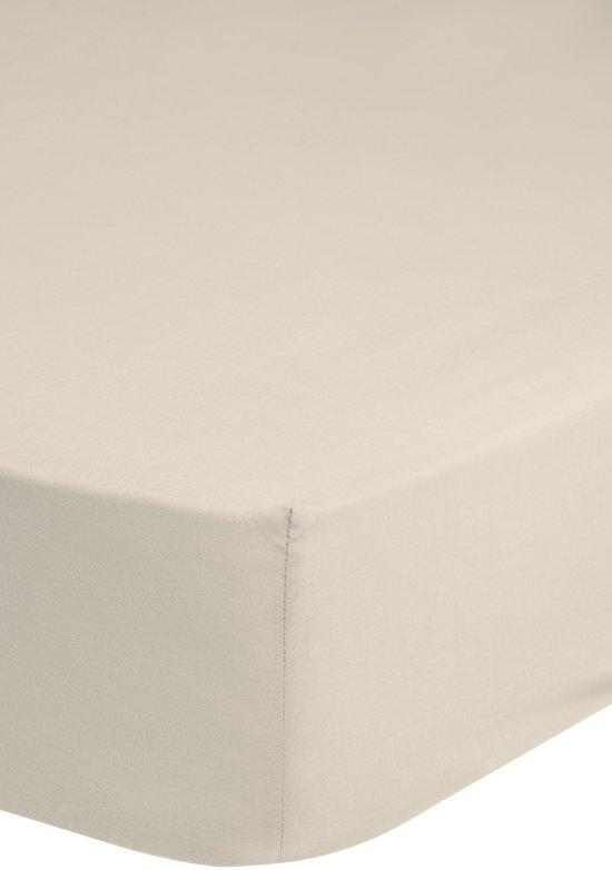 Jersey hoeslaken, ecru - 90 x 220 cm