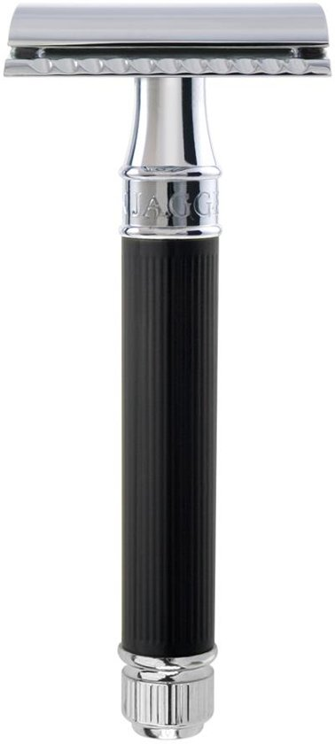 Edwin Jagger Safety Razor - Rubber Coated Black