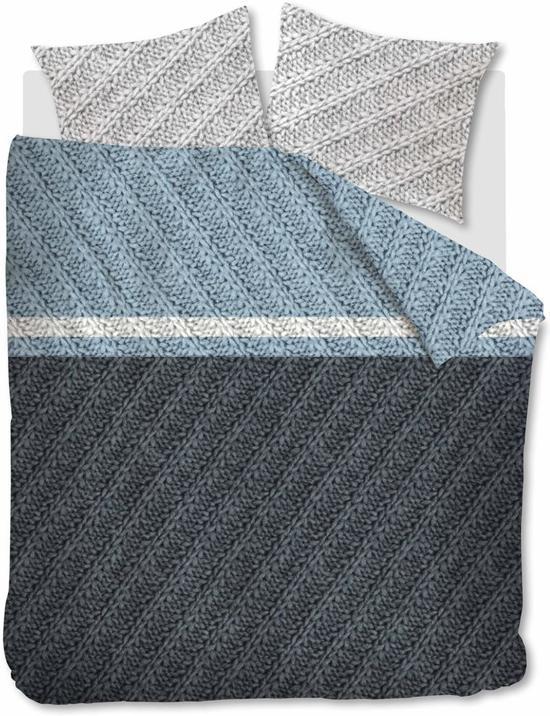 Beddinghouse Merino -  Dekbedovertrek - Flanel - Eenpersoons - 140x200/220 cm - Blauw