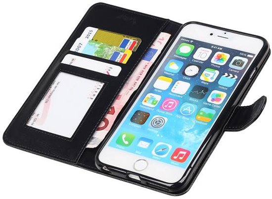 Bolcom Aa Case Zwart Book Case Effen Design Apple Iphone 6 Plus