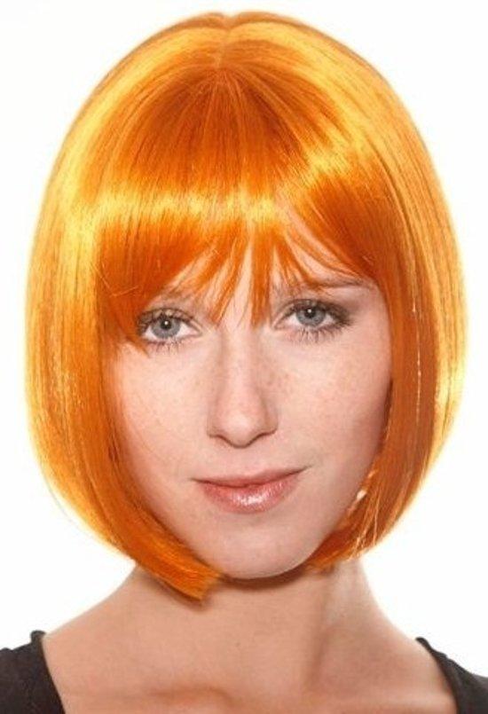 Luxe Pruik Victoria Naturel Oranje