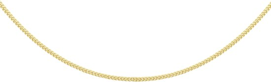 The Jewelry Collection Ketting Gourmet 1,2 mm - Geelgoud - 50 cm