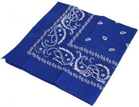 Blauwe boeren zakdoek