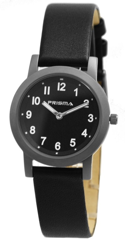 Favoriete bol.com   Prisma Classic Dames horloge P2141 - 32 mm - Leer - Zwart #FC74